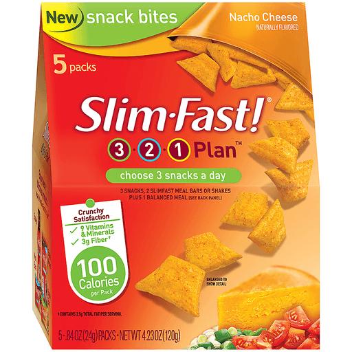 slim fast 3 2 1 plan nacho cheese 84 oz snack bites 5 pk carton shop price cutter price cutter