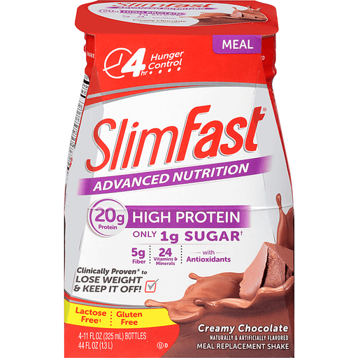 SlimFast Advanced Nutrition Meal Replacement Shake, Creamy Chocolate