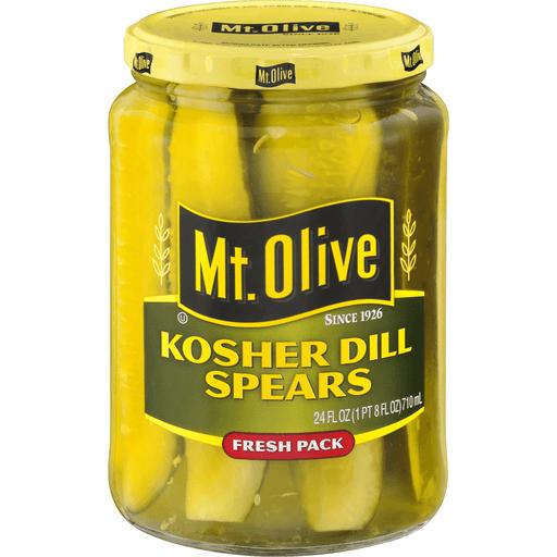Mt Olive Pickles, Kosher Dill, Spears, Fresh Pack