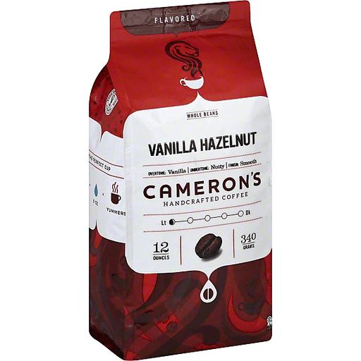 Camerons Coffee, Handcrafted, Whole Beans, Vanilla Hazelnut