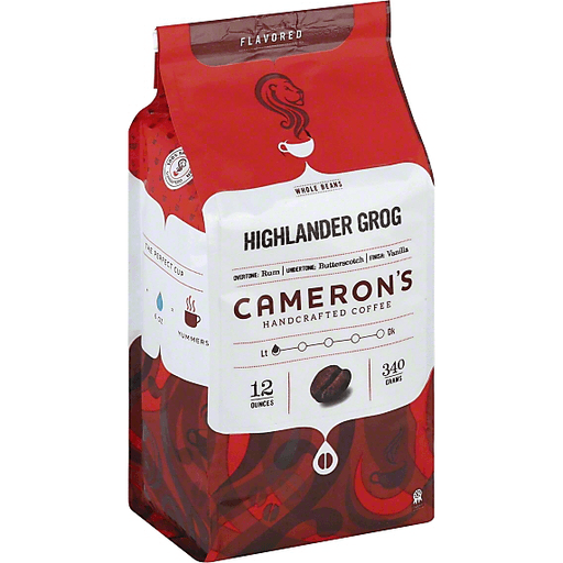 Camerons Coffee, Handcrafted, Whole Beans, Highlander Grog