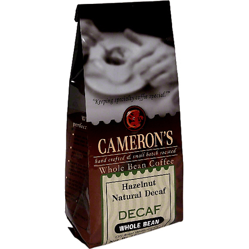 Camerons Coffee, Whole Bean, Hazelnut, Natural Decaf