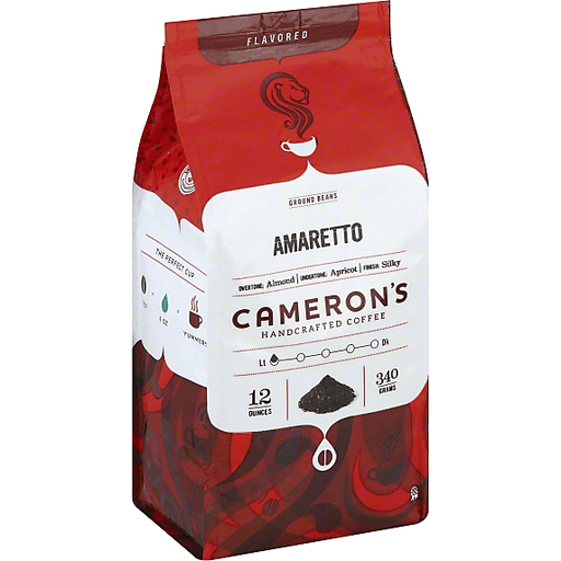 Camerons Coffee, Handcrafted, Ground Beans, Amaretto