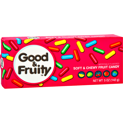Good & Fruity Soft & Chewy Fruit Flavored Candy 5 oz. Box