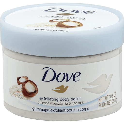 Dove Body Polish Exfoliating Crushed Macadamia Rice Milk Shop Fishers Foods