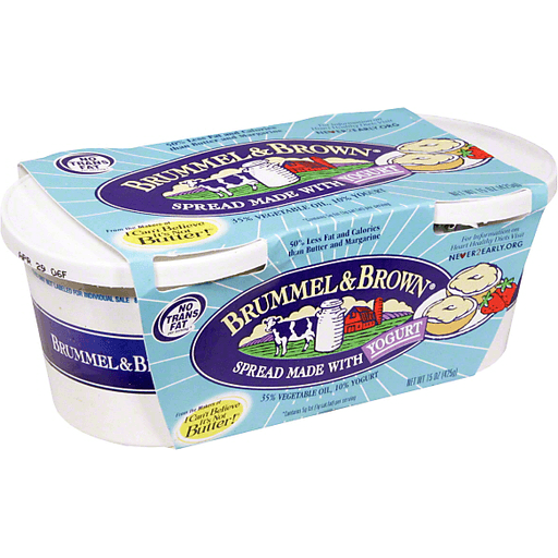 Brummel Brown Spread Made With Real Yogurt 2 Pk Margarine Butter Substitutes Fishers Foods