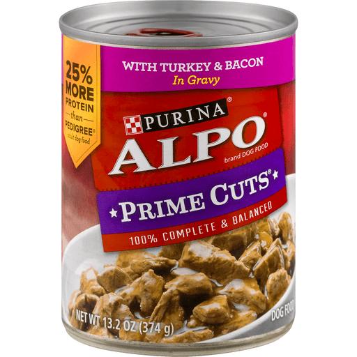 Alpo Prime Cuts Dog Food, in Gravy, with Turkey & Bacon