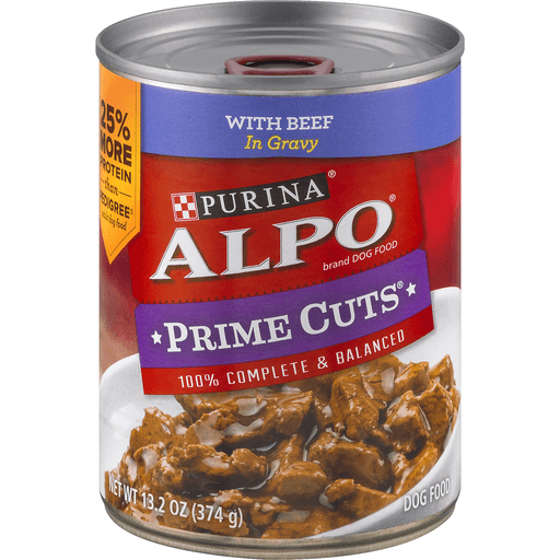 Alpo Prime Cuts Dog Food, with Beef in Gravy