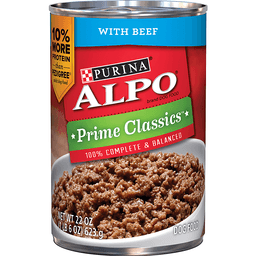 Purina ALPO Prime Classics Dog Food With Beef 22 oz. Can