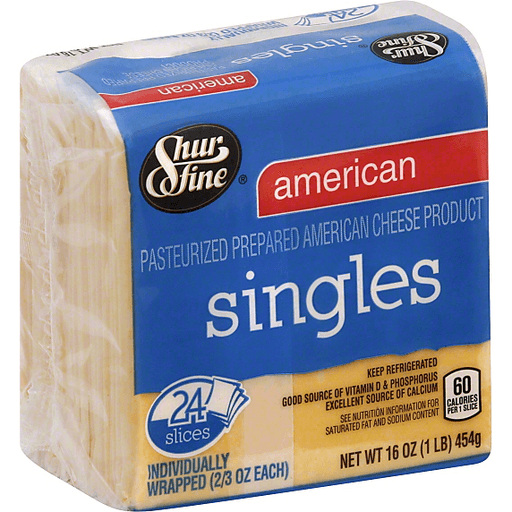 Shurfine American Cheese Singles 24 Count American The Markets