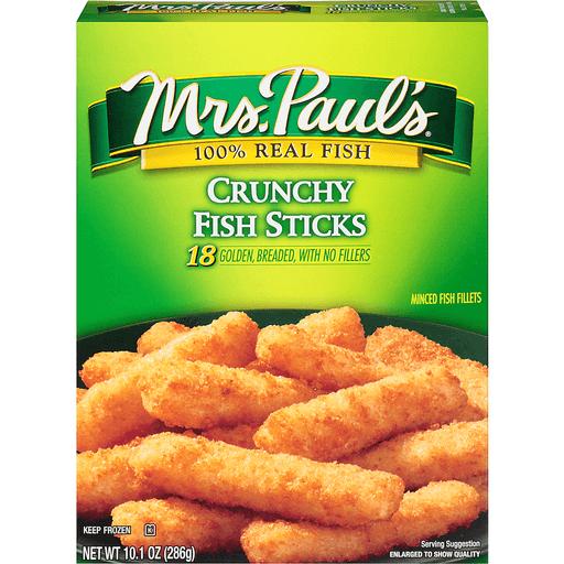 Mrs Pauls Fish Sticks, Crunchy