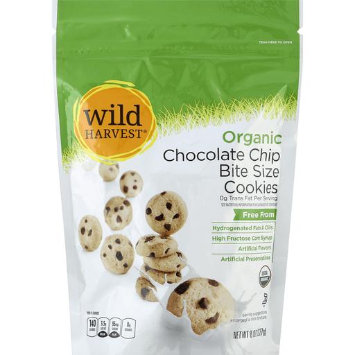 Wild Harvest Organic Cookies, Bite Size, Chocolate Chip