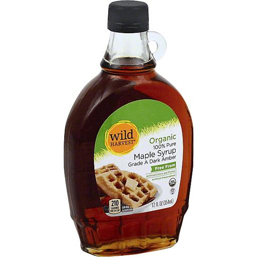 Wild Harvest Maple Syrup, 100% Pure, Organic, Dark Amber