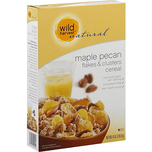 Wild Harvest Natural Cereal, Flakes & Clusters, Maple Pecan