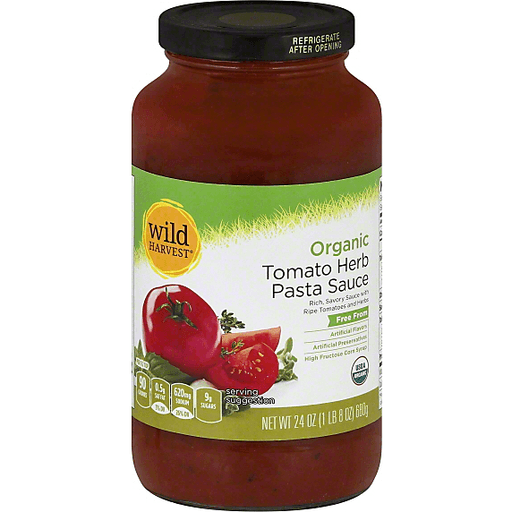 Wild Harvest Organic Pasta Sauce, Tomato Herb