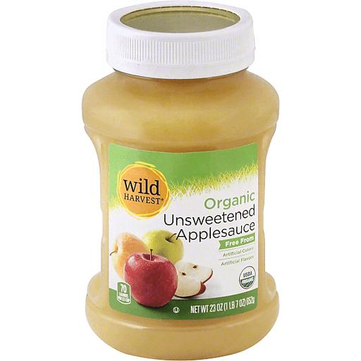 Wild Harvest Organic Applesauce, Unsweetened