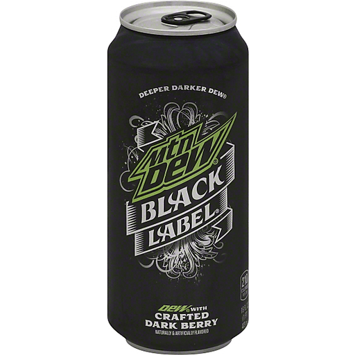 Mountain Dew Black Label Soda, with Crafted Dark Berry