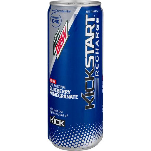 Mountain Dew Kick Start Juice Beverage Blend, Energizing Blueberry Pomegranate
