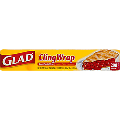 Glad Food Wrap, Clear, Cling Wrap, 200 Sq. Ft.