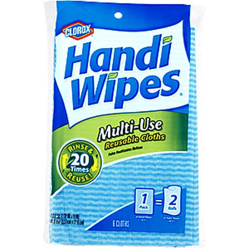 Clorox Handi-Wipes Cloths, Reusable, Multi-Use