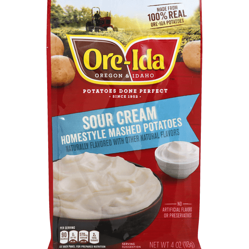 Ore Ida Mashed Potatoes, Sour Cream