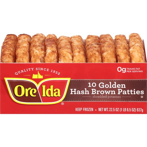 Ore-Ida Golden Hash Brown Patties - 10 CT