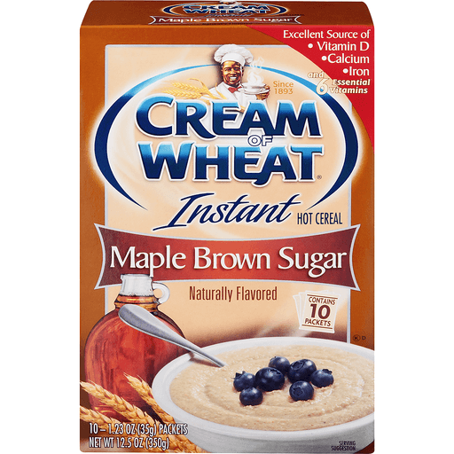 Cream Of Wheat Hot Cereal, Instant, Maple Brown Sugar