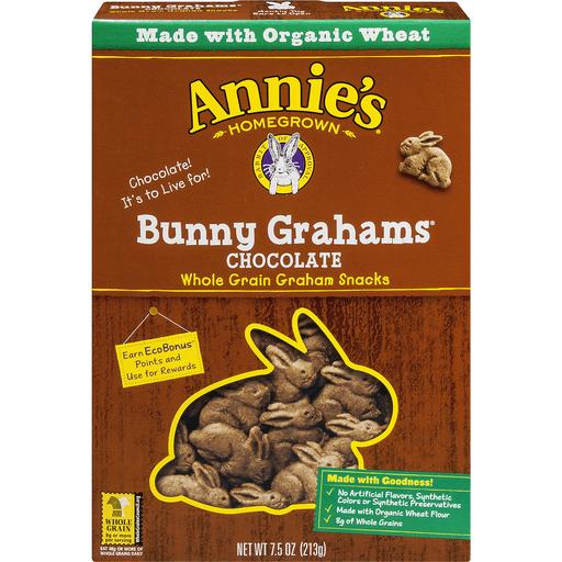 Annies Organic Bunny Grahams, Chocolate