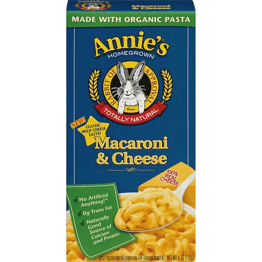 Annies Macaroni & Cheese, Classic Mild Cheddar
