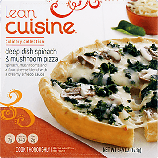 Lean Cuisine Culinary Collection Pizza, Deep Dish, Spinach & Mushroom