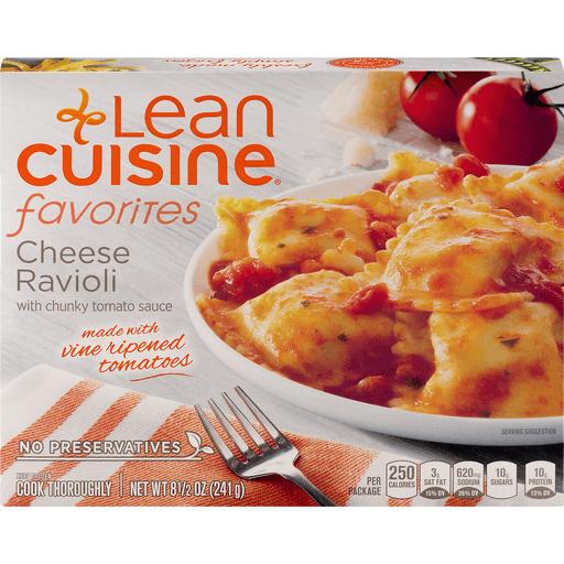 Lean Cuisine Favorites Cheese Ravioli, with Chunky Tomato Sauce