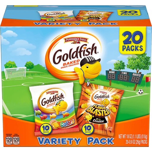 Goldfish Baked Snack Crackers, Variety Pack