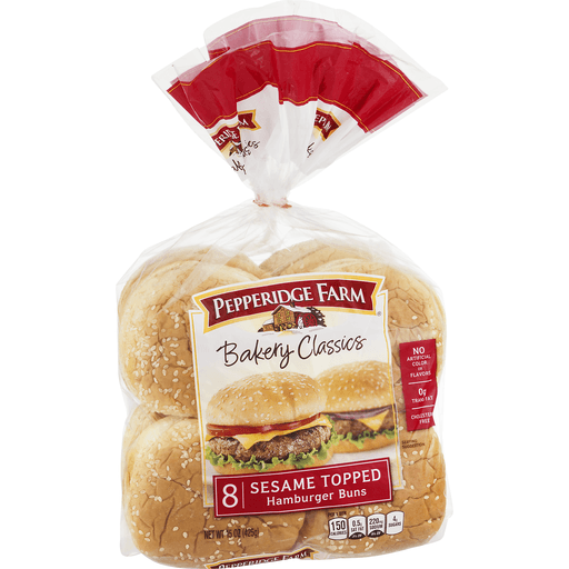 Pepperidge Farm Bakery Classics Hamburger Buns, Sesame Topped