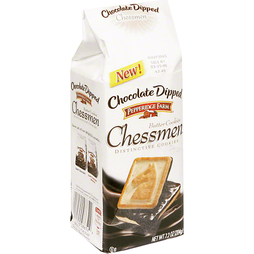 Pepperidge Farm Butter Cookies Chocolate Dipped Chessman Cookies Edwards Food Giant