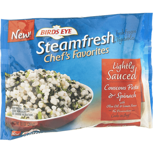 Birds Eye Steamfresh Chef's Favorites Couscous Pasta & Spinach, Lightly Sauced