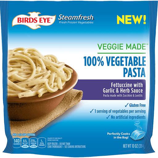 Birds Eye® Steamfresh® Veggie Made™ Fettuccine with Garlic & Herb Sauce Pasta 10 oz. Bag