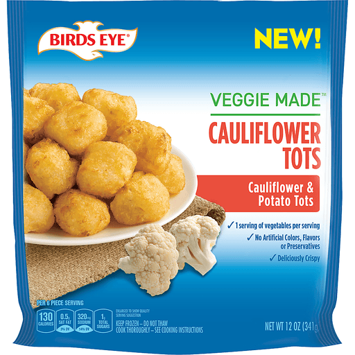 Birds Eye® Veggie Made™ Cauliflower Tots 12 oz. Bag