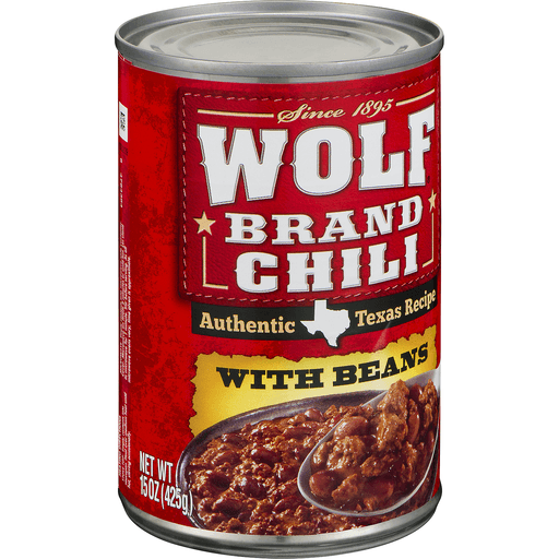 Wolf Brand Chili, with Beans