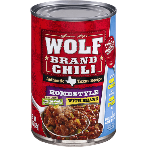 Wolf Brand Chili, Homestyle with Beans