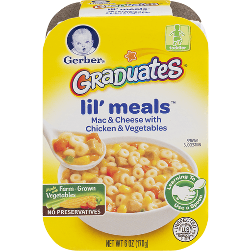 Gerber Lil' Meals, Mac & Cheese, with Chicken & Vegetables, Toddler