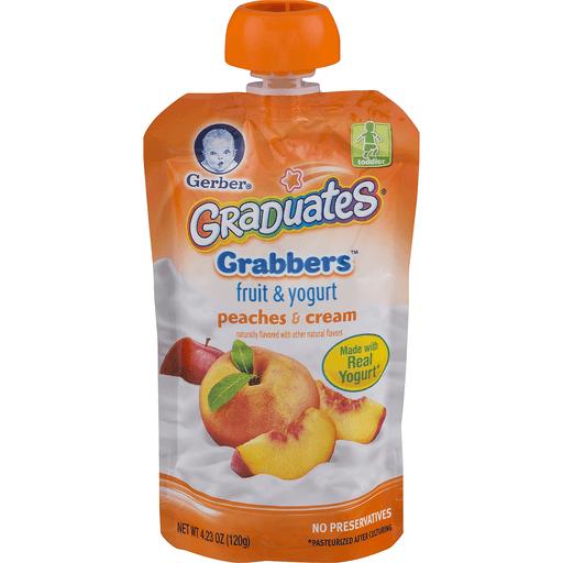 Gerber Graduates Grabbers Fruit & Yogurt, Peaches & Cream