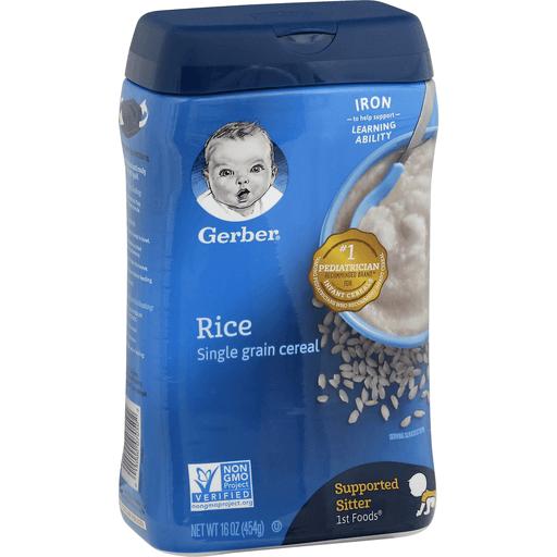 Gerber 1st Foods Cereal, Rice, Single Grain | Buehler's