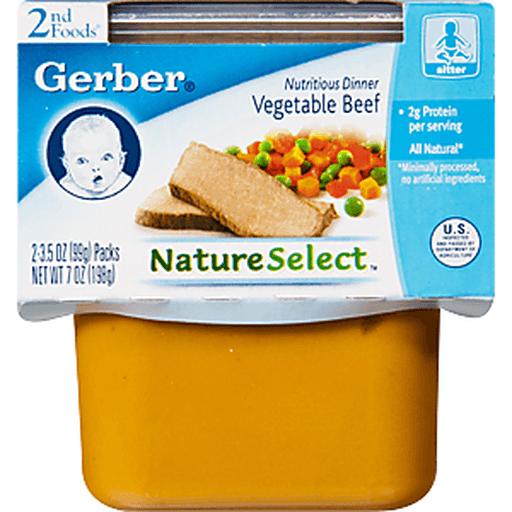 Gerber 2nd Foods Vegetable Beef Dinner