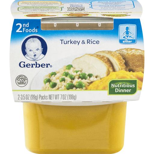 Gerber 2nd Foods Turkey & Rice