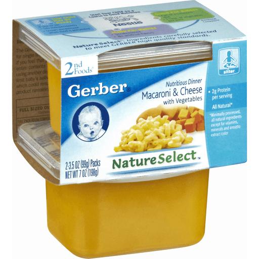 Gerber 2nd Foods Mac & Cheese with Vegetables Dinner