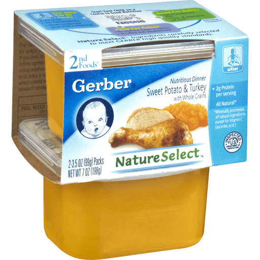 Gerber 2nd Foods Sweet Potato Turkey Dinner, with Whole Grains