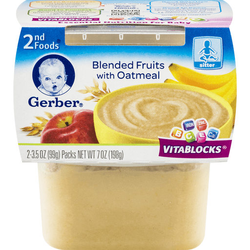 Gerber 2nd Foods Apple Banana, with Oatmeal Cereal