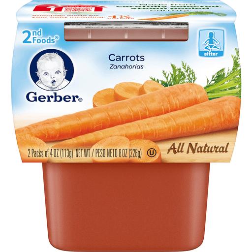 Gerber 2nd Foods Carrots - 2 Ct