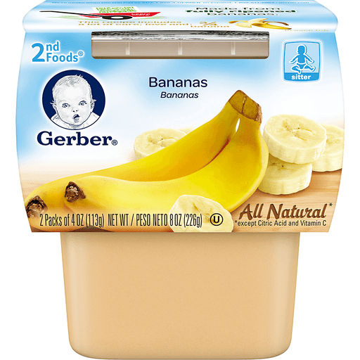 Gerber 2nd Foods Bananas - 2 CT