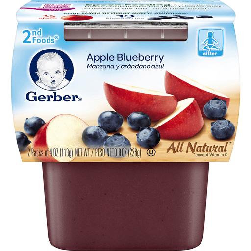 Gerber Apple Blueberry 2nd Foods